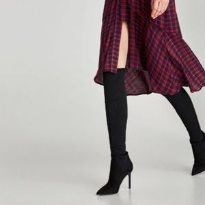 ZARA Over The Knee Sock Boots